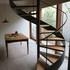 螺旋階段 木製ステップ